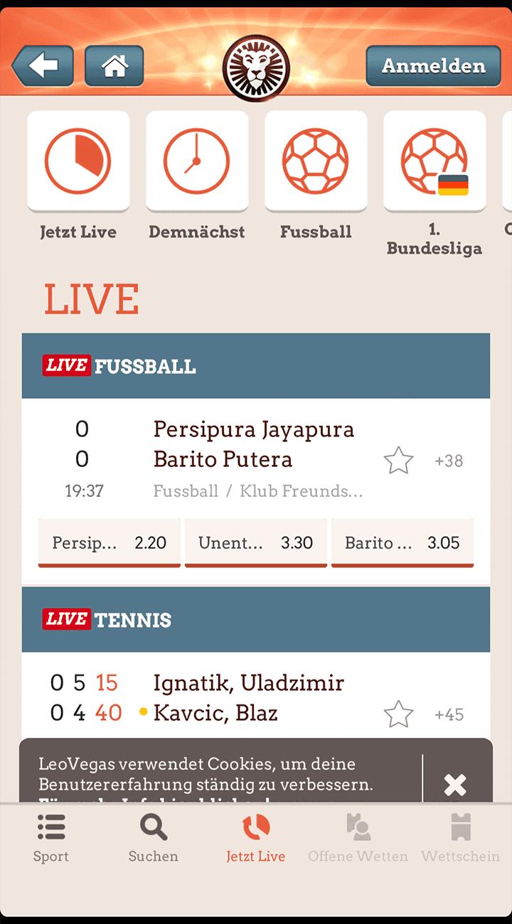 Leovegas App Live