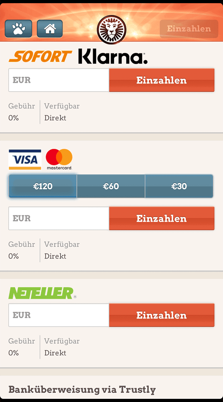 Leovegas App Zahlungen