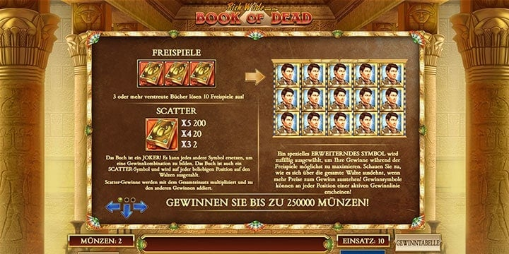 Book of Dead Slot Freispiele