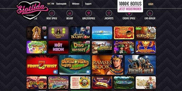 Slotilda Casino alle Spiele