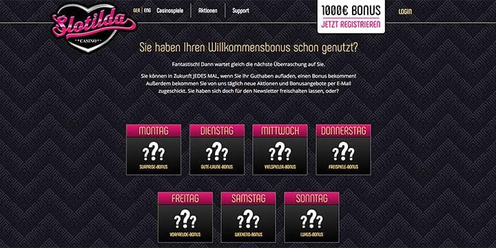 Slotilda Casino Bonus Bestandskunden Bonus