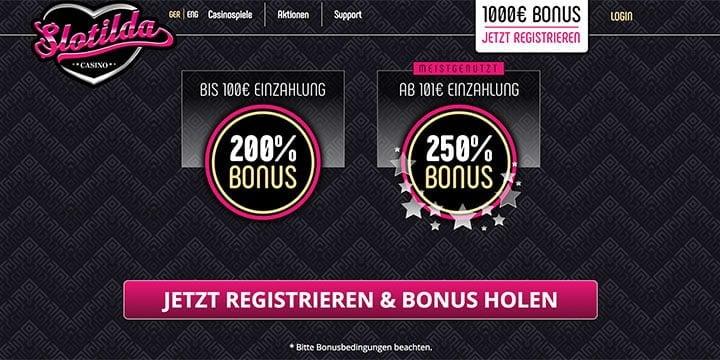 Slotilda Casino Bonus Auswahl