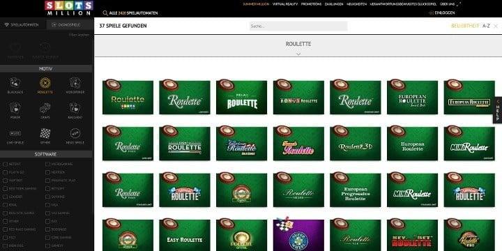 Slotsmillion Casino Roulette