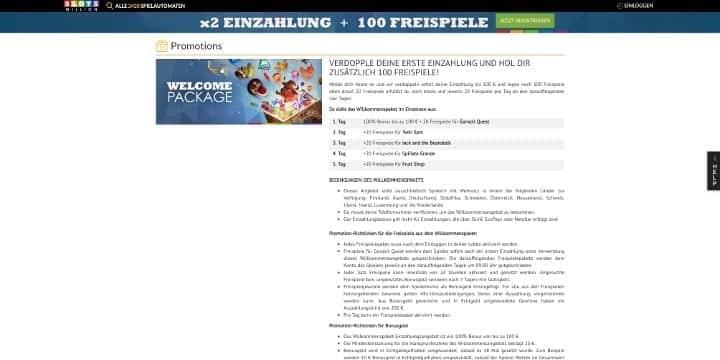 Slotsmillion Casino Bonus Bedingungen