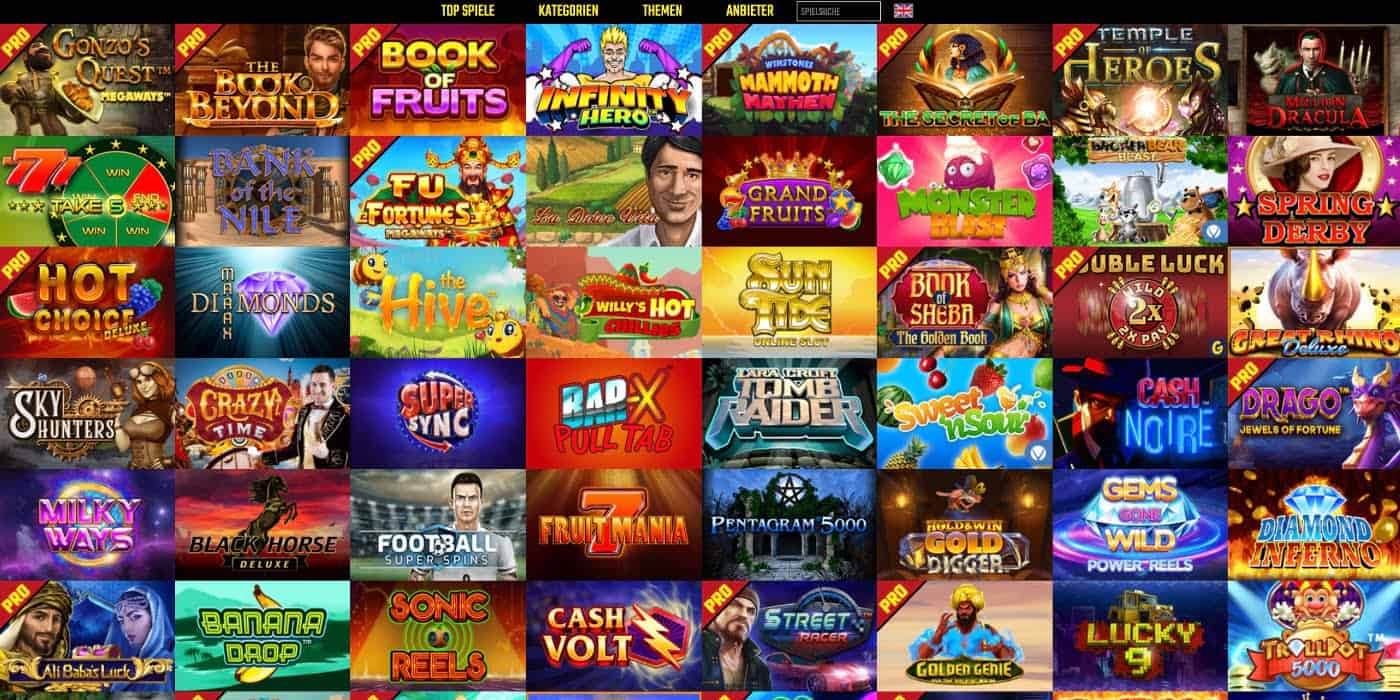 BoomBang Casino alle Spiele