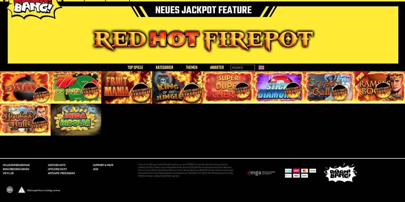 BoomBang Casino Jackpots