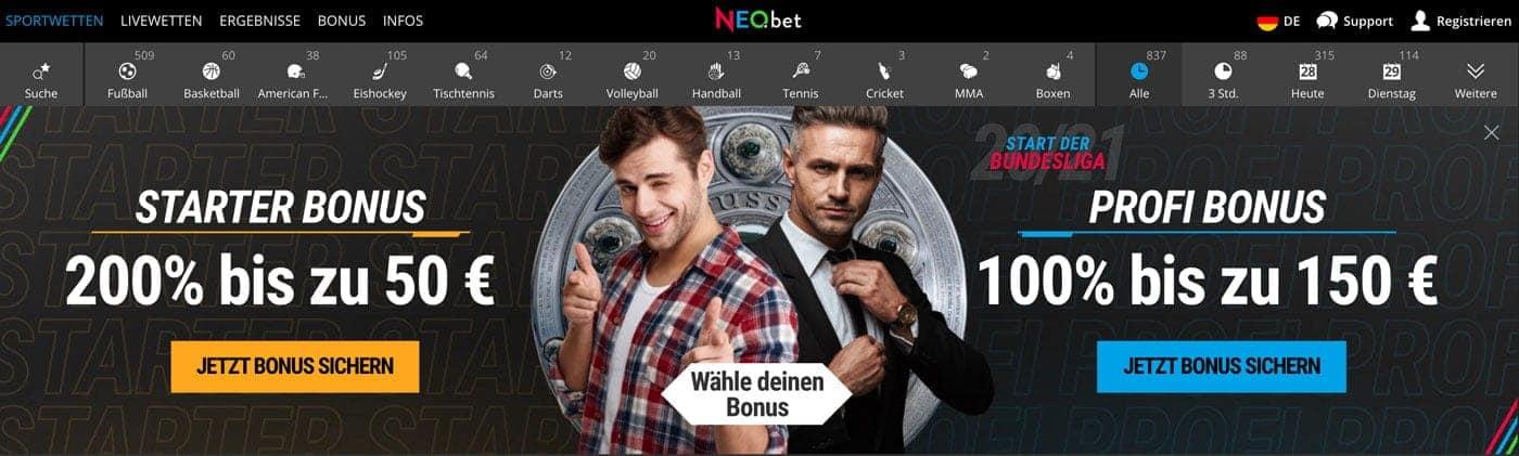 Neobet Bonus 2021