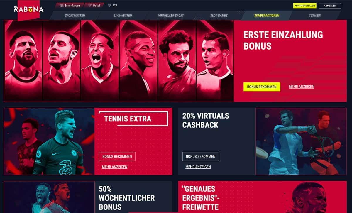 Rabona Sportwetten Bonus Aktionen