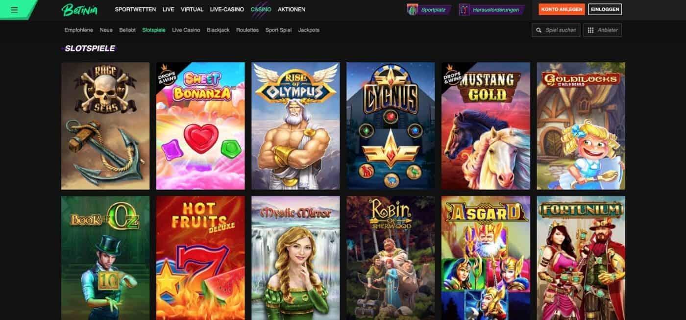 Betinia Casino Slots