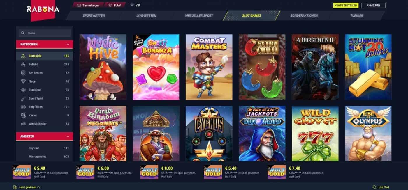 Rabona Casino Slots