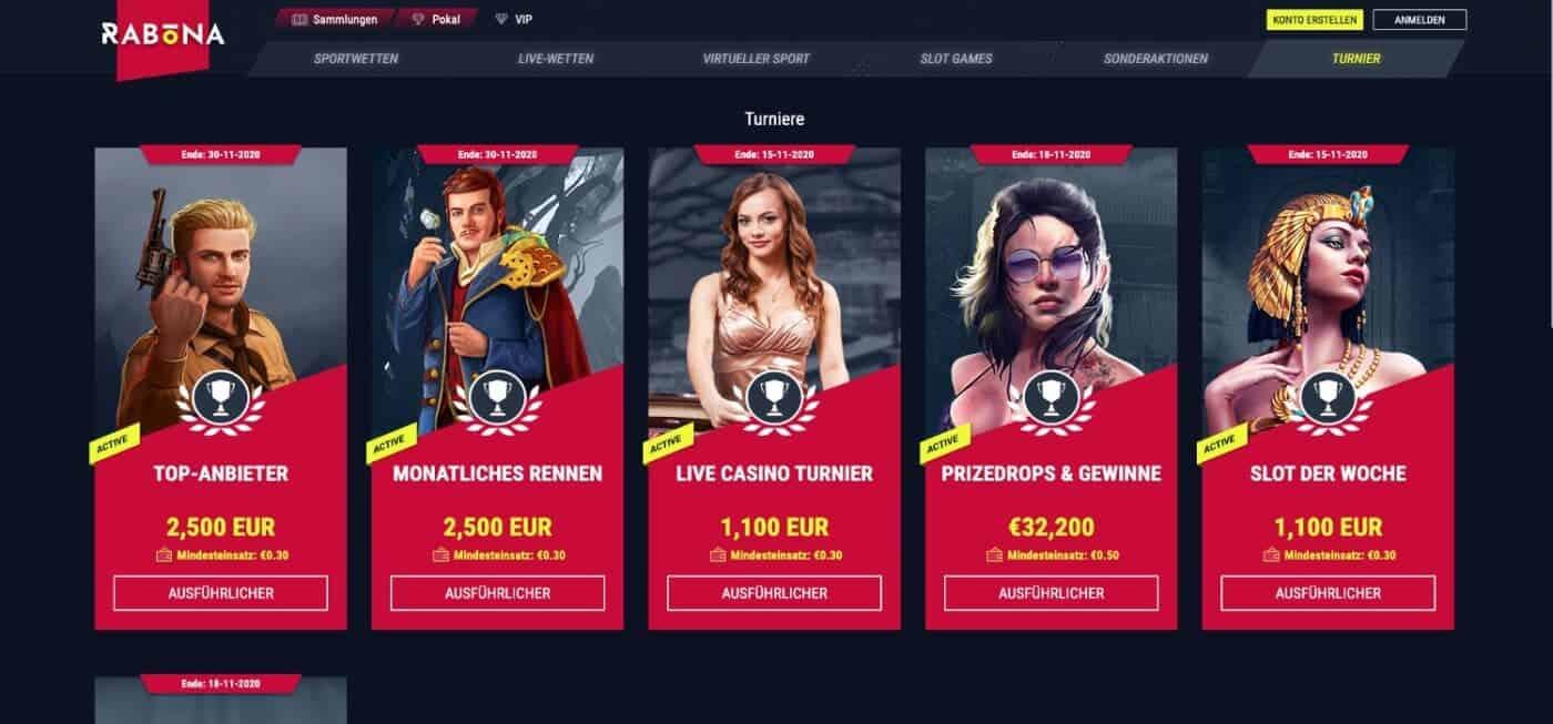 Rabona Casino Turniere