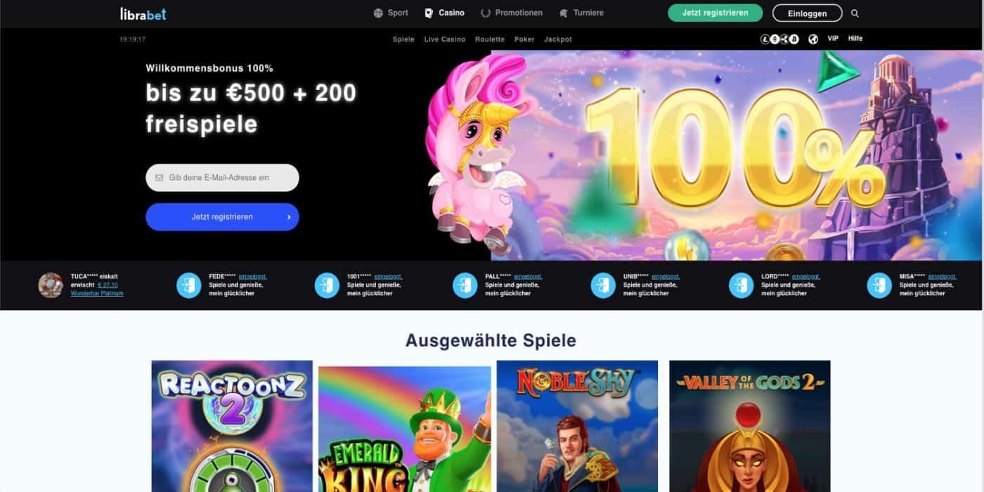 Librabet Casino Bonus
