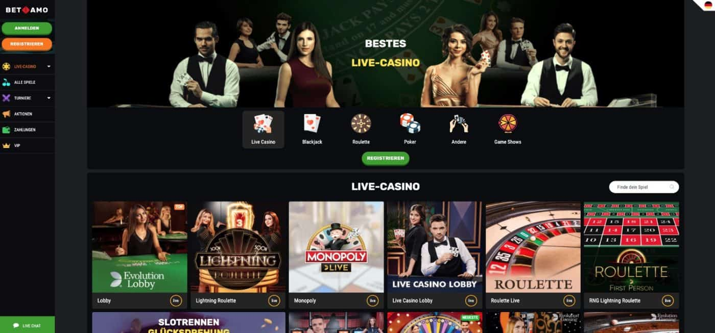 Betamo Live Casino