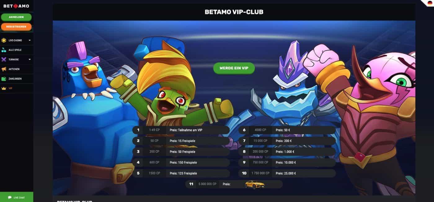 Betamo Casino VIP