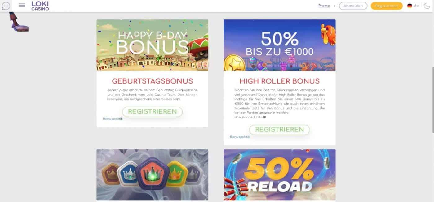 Loki Casino Bonus Aktionen