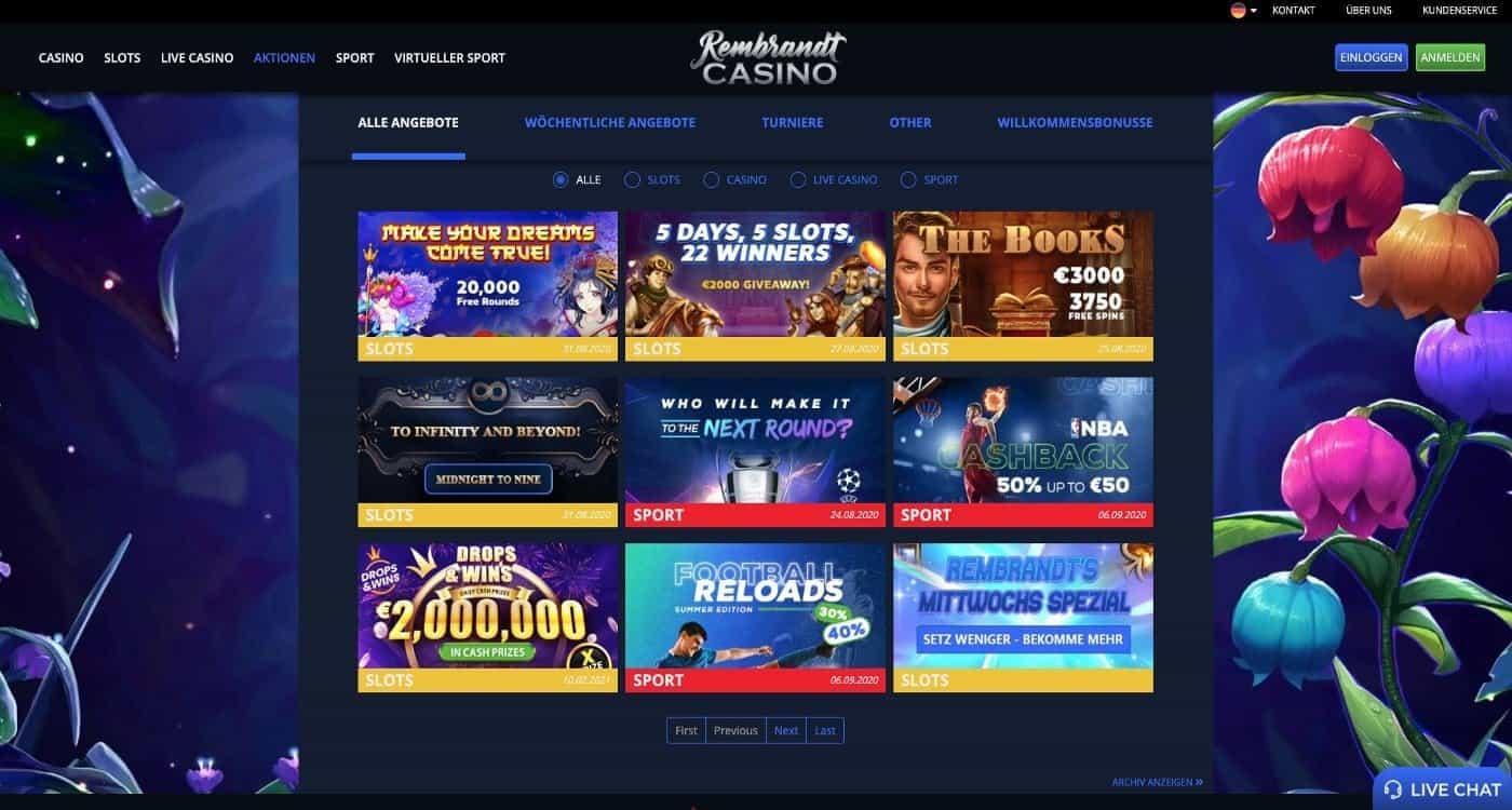 Rembrandt Casino Bonus Aktionen