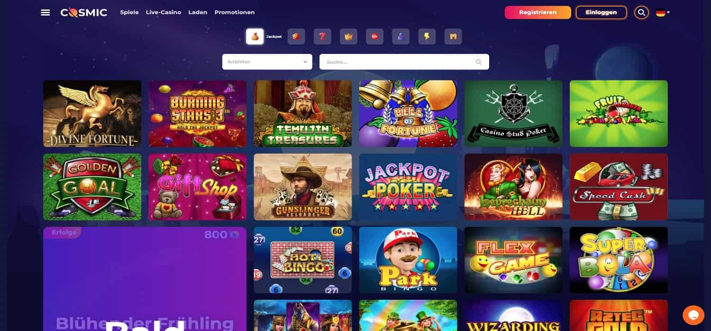 Cosmic Slot Casino Jackpots