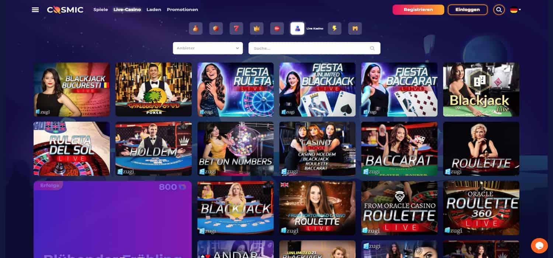 Cosmic Slot Casino Live