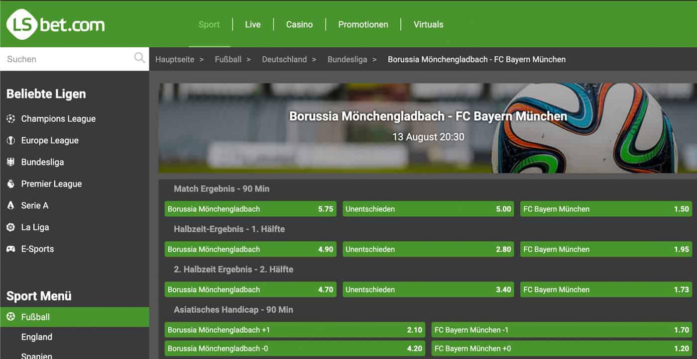 LSbet Bundesliga Wetten