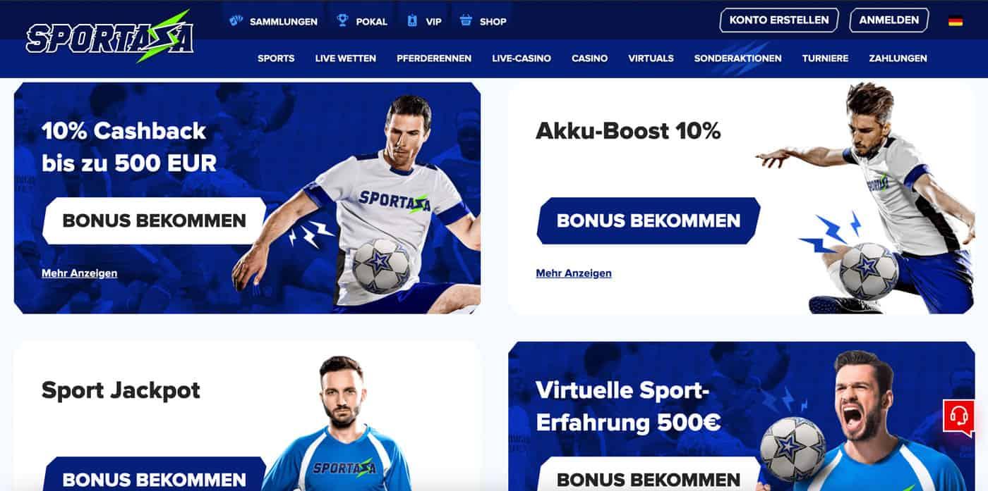 Sportaza Bonus Aktionen