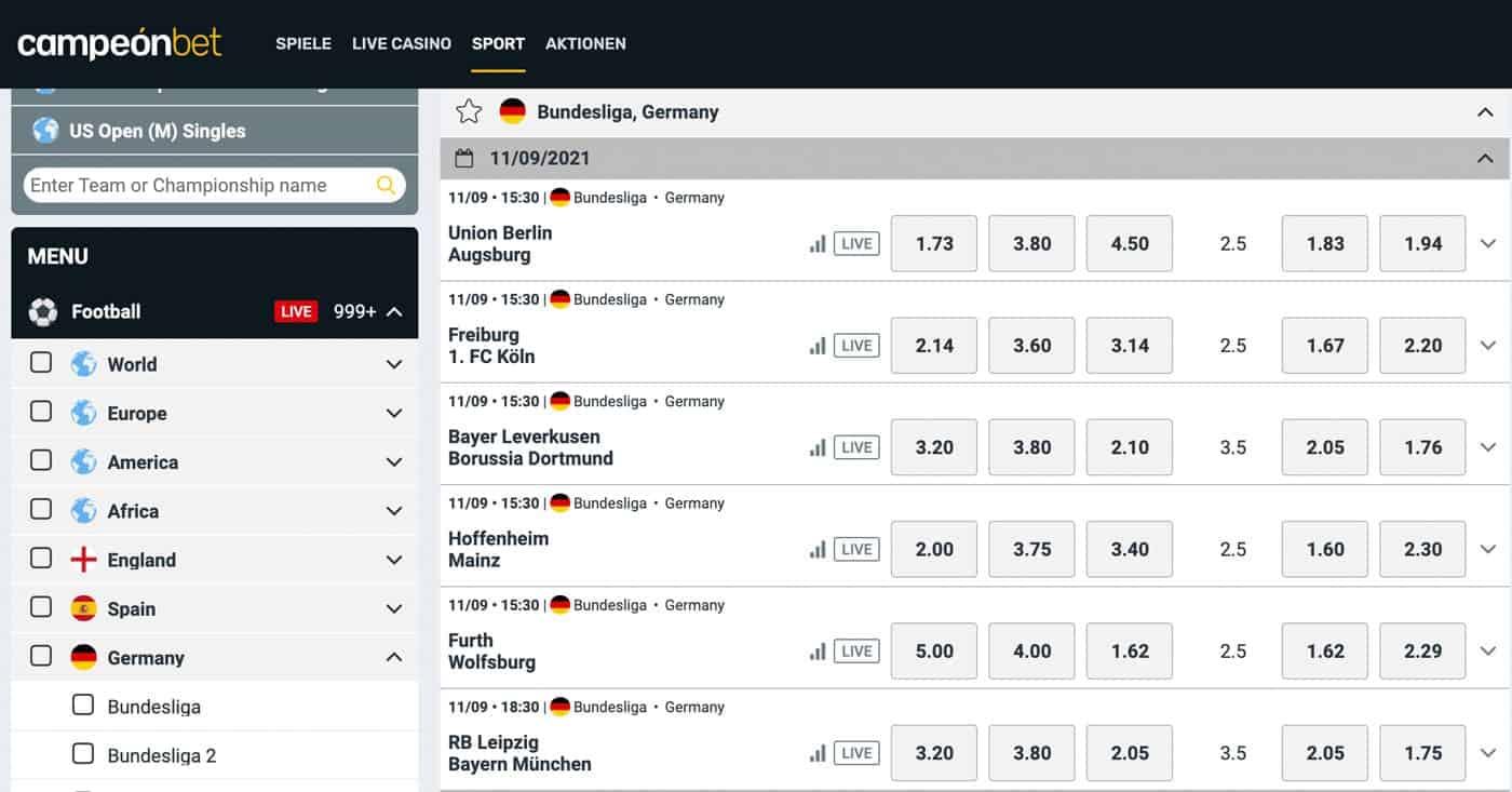 Campeonbet Bundesliga Wetten