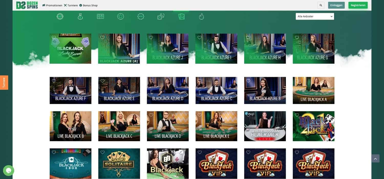 Dozenspins Casino Blackjack
